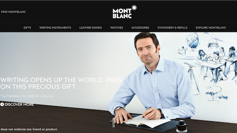 Montblanc owner Richemont is quite protective of its ecommerce business. Image credits: Montblanc