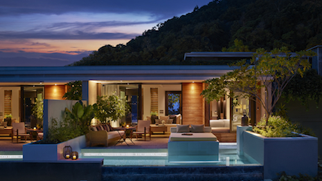 The ocean view pool pavilion at Rosewood Phuket in Thailand