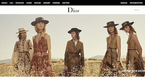 Dior's Web site is among the fastest-loading among those measured by Catchpoint. Image credits: Dior