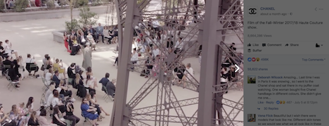 Chanel show video - high engagement