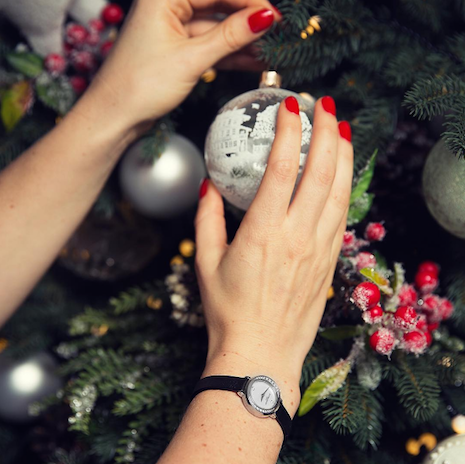 Getting ready for the festive spirit. Image credit: Baume & Mercier