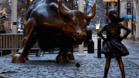 Bullish on women power> Image credit: Swoonery