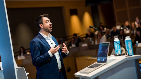 A speaker at Luxury Interactive 2016. Image courtesy of Worldwide Business Research
