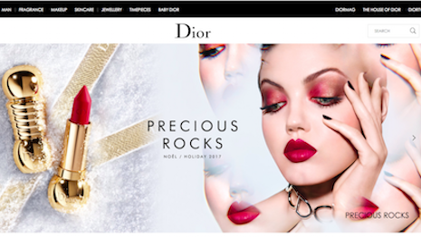 Dior's Web site rocks as the best-performing desktop Web site, according to Catchpoint analysis for the third quarter of 2017