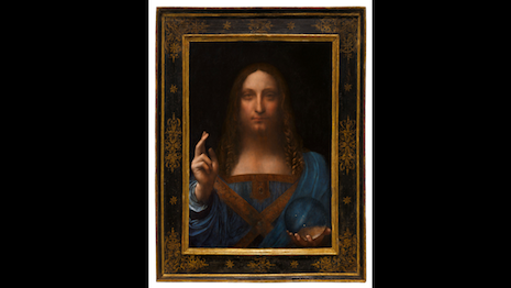 Leonardo da Vinci's Salvator Mundi (Savior of the world) painting sold for a staggering $450.3 million at an auction Nov. 15 held by Christie's New York. Image credit: Christie's