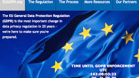 The European Union's General Data Protection Regulation will affect data privacy laws not just in the region but around the world. Image credit: EU GDPR portal