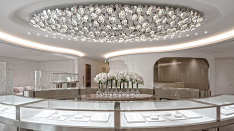 Lalique crystal adorns a Mikimoto boutique. Image courtesy of Lalique