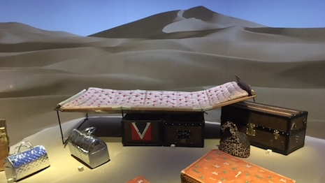 A desert scene at the Louis Vuitton Volez Voguez Voyagez exhibition in New York that ended Jan. 7, 2018