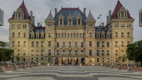 New York State Legislature in the New York State capital of Albany. Image credit: New York State Legislature