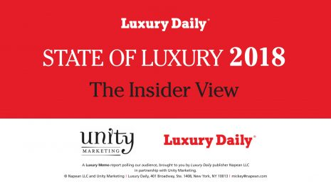 Luxury Daily's State of Luxury 2018 comes free with a new annual subscription ($349) or can be bought separately