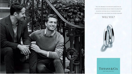"Tiffany & Co.'s ""Will You?"" print and television ad campaign in 2015 made history when it featured a gay couple for the first time in its advertising"