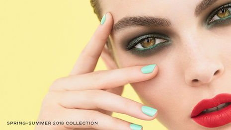 Looks from Chanel's spring-summer 2018 make-up collection. Beauty is one of the few categories that Chanel sells online. Image credit: Chanel