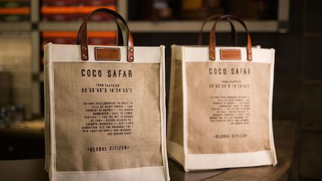 Bags of merchandise at Coco Safar. Image credit: Coco Safar
