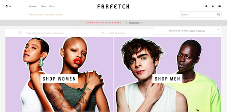 Is Farfetch's model a fit for other markets? Image credit: Farfetch