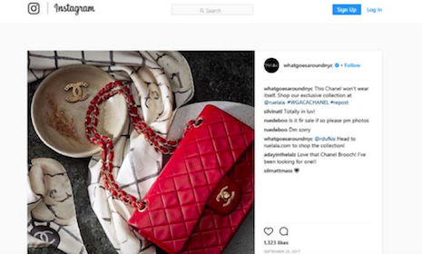 There it is again: Chanel bag shown in What Goes Around Comes Around Instagram post. Image credit: What Goes Around Comes Around Instagram