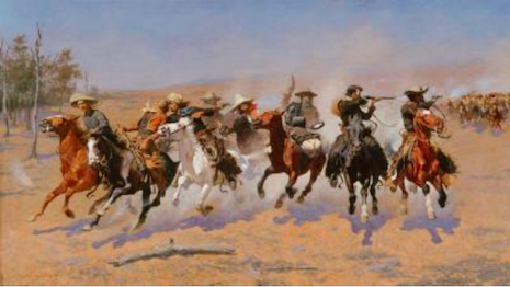 Frederic Remington, A Dash for the Timber, 1889. Oil on canvas, 48¼ x 841 � 8 in. Amon Carter Museum of American Art, Fort Worth, TX, Amon G. Carter Collection