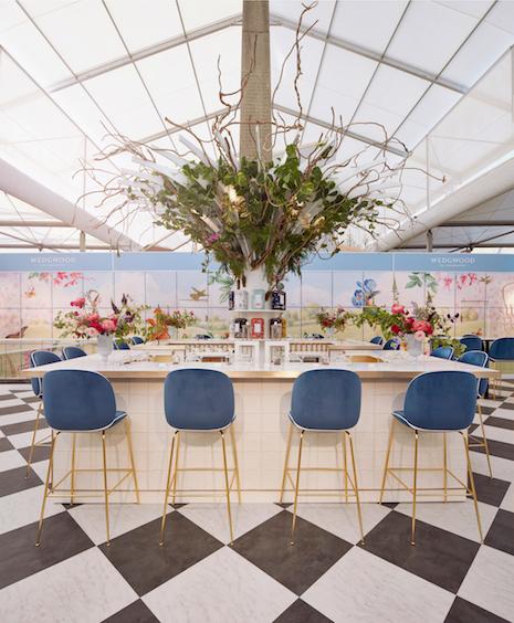 Wedgwood's Chelsea Flower Show exhibit in 2017. Image credit: Wedgwood