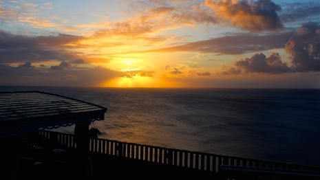 Sunset from ViewFort Estate in Anguilla where select Luxury Marketing Council members gathered to discuss luxury issues and opportunities. Image credit: Christopher Olshan