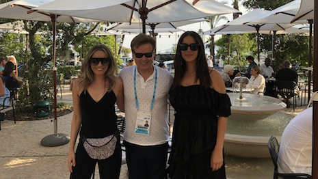 At the Cannes Lions 2018 advertising festival: left to right, Ana Andjelic, chief brand officer, Rebecca Minkoff; Daniel Hodges, CEO, Consumers in Motion; Rebecca Minkoff, founder, Rebecca Minkoff