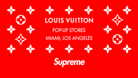Once legal adversaries, Louis Vuitton and Supreme went to form one of the most successful partnerships between a luxury brand and a premium label, adding sheen to both. Image credit: Louis Vuitton