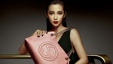 Chinese actor Li Bingbing for Gucci. Image credit: Gucci