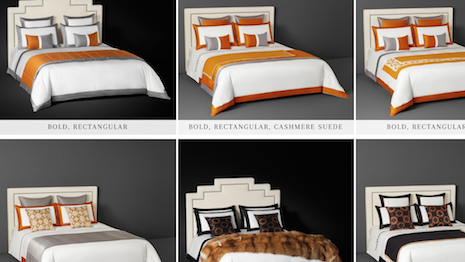 Not content to rest: Frette's bold new look. Image credit: Frette