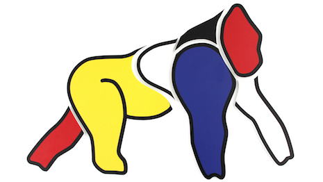 Ode to Mondrian: Valmont Group chief Didier Guillon's tribute sketch of Berlin Zoo gorilla Ivo. Image credit: Didier Guillon, Valmont