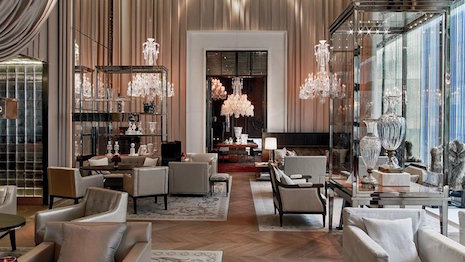 Interior of the Baccarat Hotel New York. Image credit: Baccarat Hotel New York
