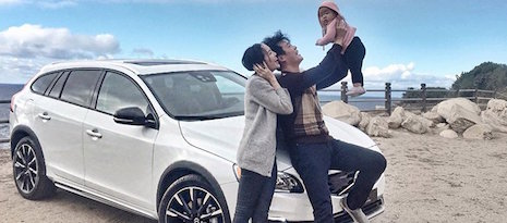Chriselle Lim with her husband and daughter in the much-talked-about Volvo post Image credit: @chrisellelim