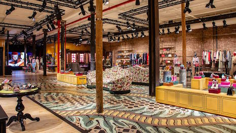 Boho in SoHo: Gucci's store on 63 Wooster Street in New York that officially opened in May. Image credit: Gucci