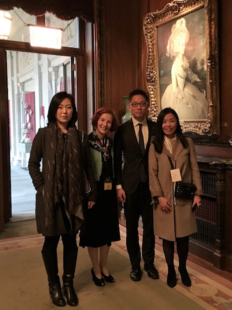 Chinese tour guides at The Frick Collection with Heidi Rosenau, associate marketing director