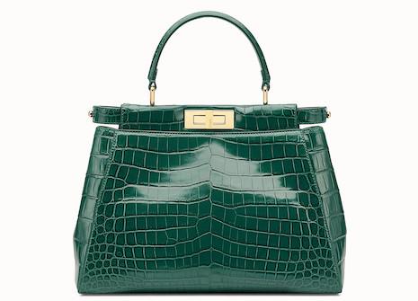 Fendi crocodile handbag