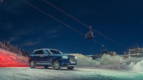Rolls Royce Cullinan ski season