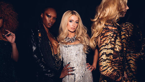 Paris Hilton fronting design duo Phillipe and David's The Blonds show at New York Fashion Week in February. Image credit: NYFW