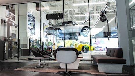Porsche Destination lounge area