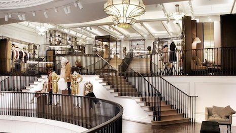Burberry's swank London store that attracts visitors from around the world. Image credit: Burberry