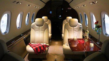 NetJets personalized cabin