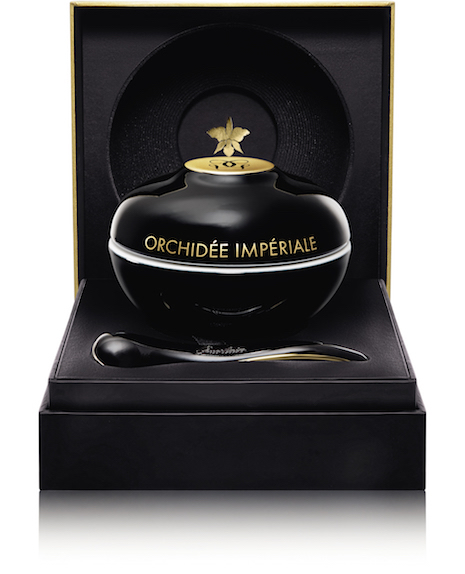 All-round execution: Guerlain's Orchidée Impériale Black in porcelain jar by Bernardaud