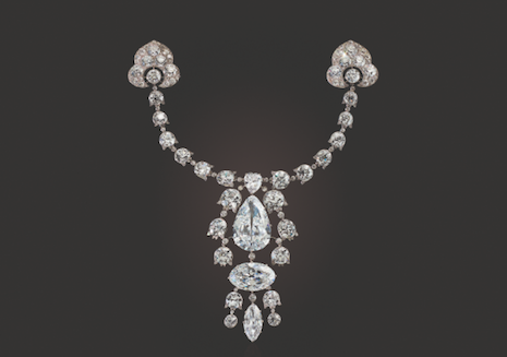 Belle epoque diamond necklace by Cartier, winning bid $10.6 million. Image credit: Christie's