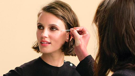 Seen in the latest episode of Chanel Beauty Talks: Lucia Pica, Chanel's global creative make-up and color designer, creates a fresh, natural look for actress Marine Vacth with the new Les Beiges water-fresh tint. Image credit: Chanel