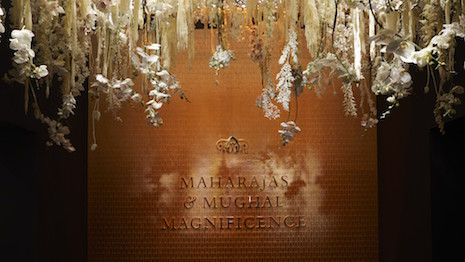 "Entrance to Christie's ""Maharajas & Mughal Magnificence"" exhibition ahead of the June 19, 2019 auction at its New York's headquarters at 20 Rockefeller Plaza. Image credit: Christie's"