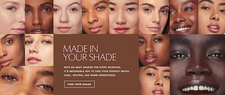 Estée Lauder's myriad shades for all skintones. Image credit: Estée Lauder