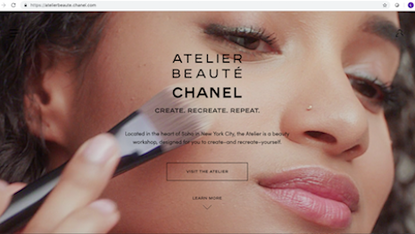 Delivering a unique customer experience, Atelier Beauté Chanel offers beauty and makeup tips and workshops at its 120.5 Wooster Street location in New York's SoHo district. Image credit: Chanel