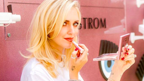 Nordstrom celebrated the launch of Lancome's Chiara Ferragni capsule collection at Nordstrom Century City store in Los Angeles. This was influencer Ms. Ferragni's first beauty collection, choosing to make the debut in a department store. Image credit: Nordstrom