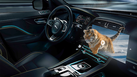 Jaguar 3D in-car experience