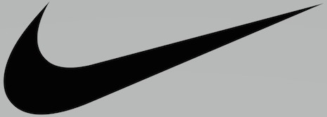 Nike's distinctive logo is motion at its best, with a rightward, optimistic tilt. Image credit: Nike