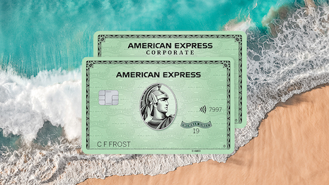 American Express reclaimed plastic credit cards