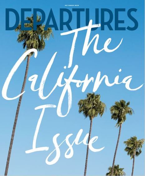 Departures' October 2019 cover