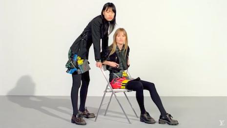 Louis Vuitton models strut 2019 footwear collection in video. Image credit: Louis Vuitton