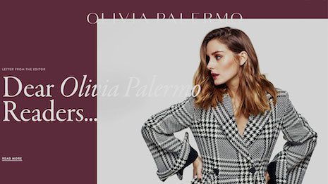 Word's out: OliviaPalermo.com is open for business. Image credit: Olivia Palermo